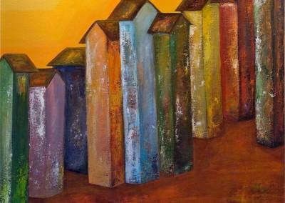 Ciudad de color | Farbige Stadt | 100 x 100 |verkauft