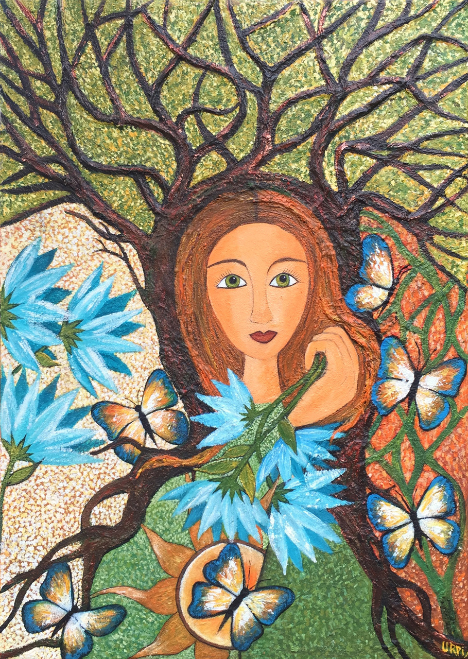 Kuka Warmy |Mujer Arbol | 60 x 70 | Copyright URPI