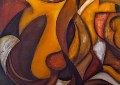 Ola de Pasión | Wellen der Leidenschaft | 120 x 120 | verkauft