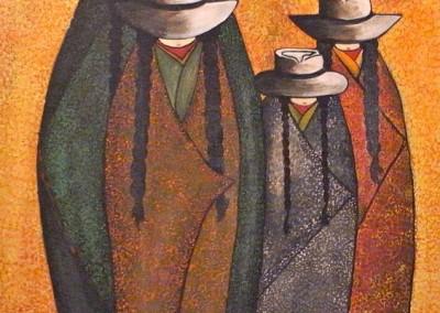Tawapasñakuna | Vier Frauen | 50 x 70