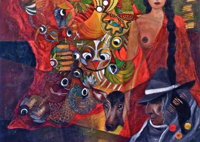 Poesia a la mujer | Gedicht an die Frau | 100 x 100