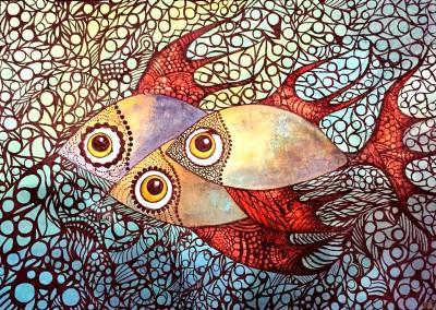 Mullu challwa | pescado coralino | 70 x 50