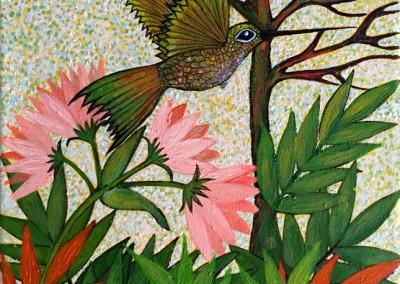 Siwar K'enti | Picaflor dorado | güldener Kolibri | 30 x 24