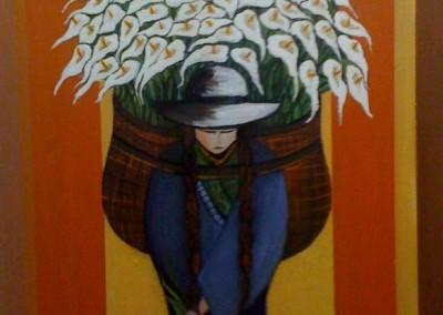 Tika Pallay | Blumen  pflücken | 50 x 70