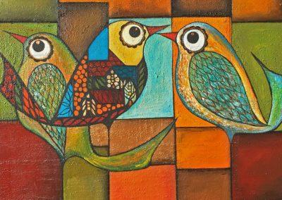 Pájaros urbanos | Urbane Vögel | 50 x 50