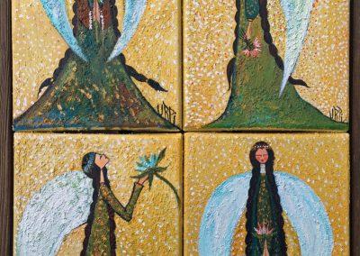 Tawantin apukuna | Los quatro Apus: Suyo, Llaqta, Teqse y Ayllu | 4 x 16 x 24