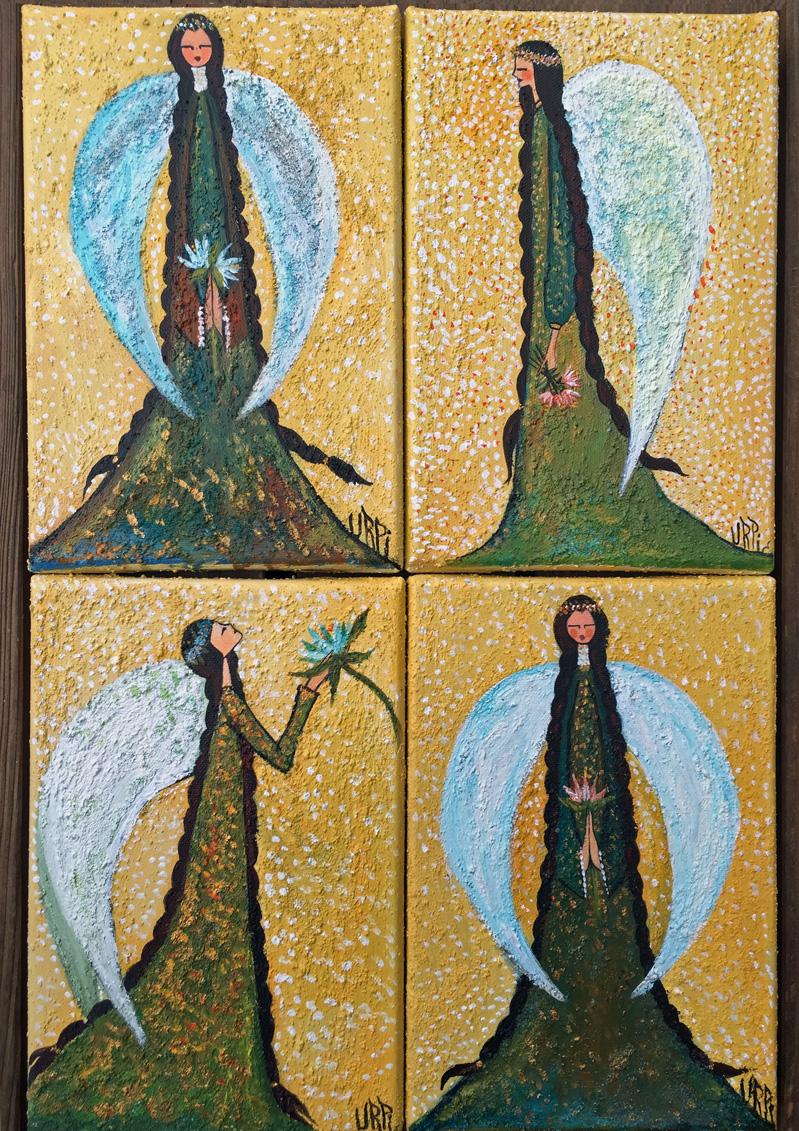 Tawantin apukuna | Los quatro Apus: Suyo, Llaqta, Teqse y Ayllu | 4 x 16 x 24 | Copyright URPI