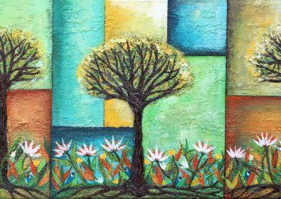 Un día de primavera | Ein Frühlingstag | 120 x 40