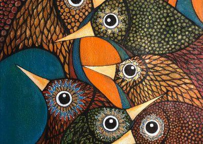 Aves de Color | Farbenfrohe Vögel | 60 x 70