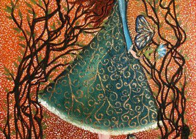 Bailando con mariposas | Tanz mit den Schmetterlingen | 50 x 70