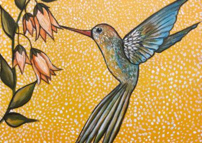 El aleteo del colibrí | Der Flügelschlag des Kolibris | 20 x 20 | verkauft