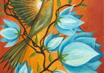 Entre picaflores y flores | Umgeben von Kolibris und Blumen | 30 x 90