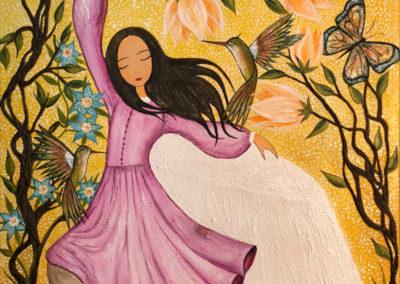 El baile del angelito | Der Tanz des Engelchen | 50 x 70 | Verkauft