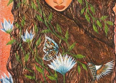 Entre pétalos azules | Zwischen blauen Blüten | 40 x 100