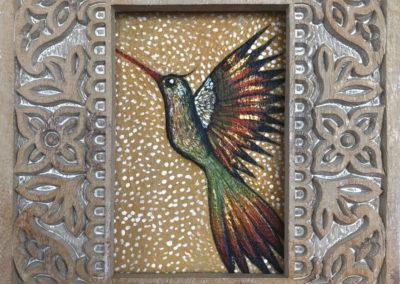 Hatun siwar q'enti | Grande colibrí | Mächtiger Kolibri | 20 x 25 | verkauft