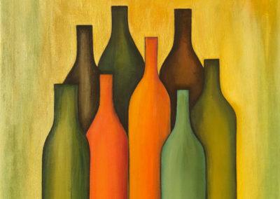 Ocho botellas | Acht Flaschen | 55 x 55