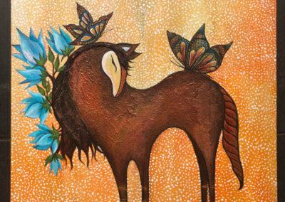 Tierna Yegua | Zärtliche Stute | 40 x 40