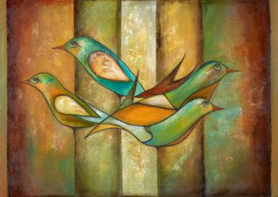 Tiempo de pajaros | Zeit der Vögel | 100 x 50