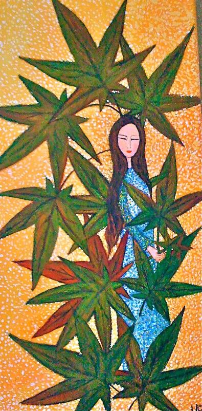 Entre hojas | 20 x 40 | verkauft | Copyright URPI
