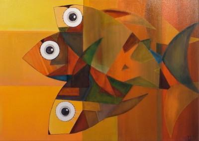 Intichallua | Sonnenfische | 70 x 50 | verkauft | Copyright URPI