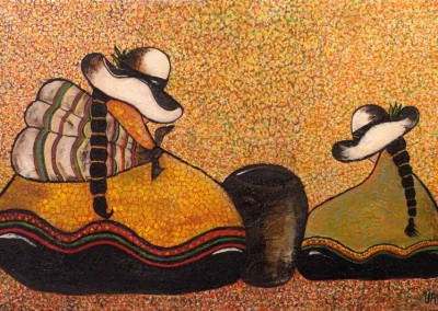 Urpi Chaska | Taube und Venus | 60 x 40 | Copyright URPI