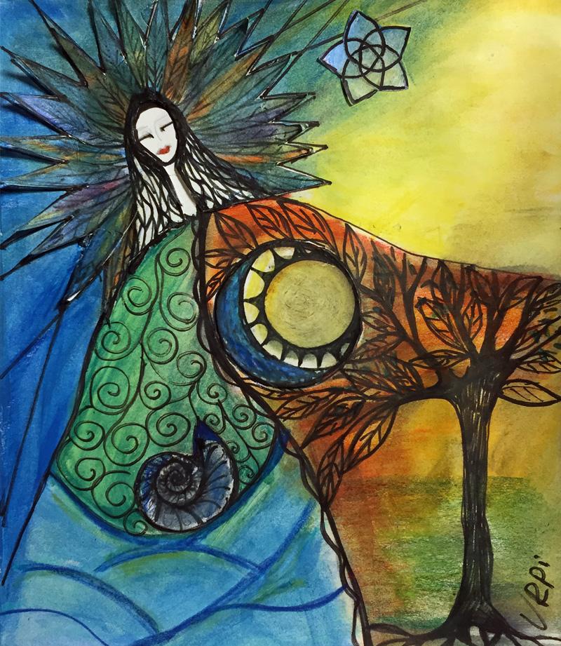 Mama Killa 8 | Grossmutter Mond | 100 x 100 | Copyright URPI