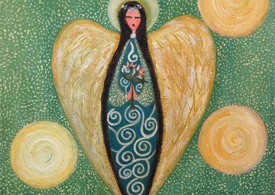 Angel de paz | Friedensengel |30 x 30 | Copyright URPI