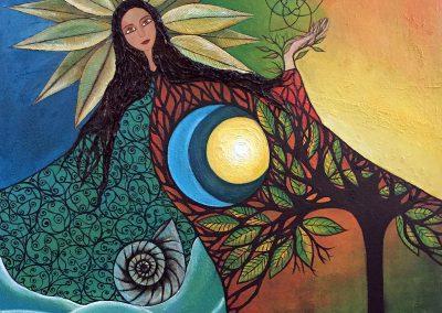 Mama Killa | Madre Luna | Mutter Mond | 100 x 100 | Copyright URPI