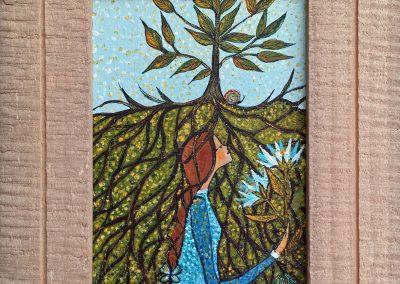 Soy simiente, soy raíz | Ich bin Samen, ich bin Wurzel | 20 x 20 | Copyright URPI
