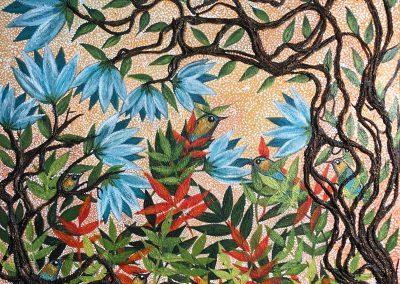 Paraíso azul | Blaues Paradies | 70 x 70 | Copyright URPI