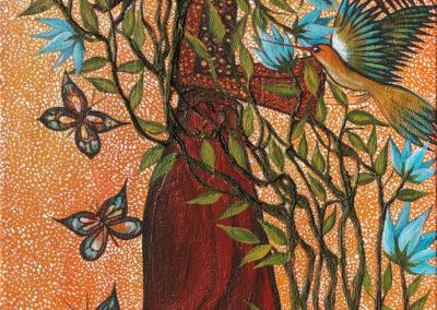 Paqariwarmy | Mujer eterna | Ewige Frau | 40 x 100 | Copyright URPI