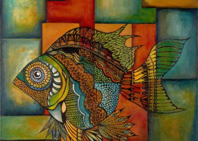 Oda al pez volador | Ode an den fliegenden Fisch | 100x100| Copyright URPI