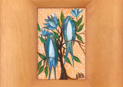 Golondrinas azules | Blaue Schwalben | 20 x 24 | Copyright URPI