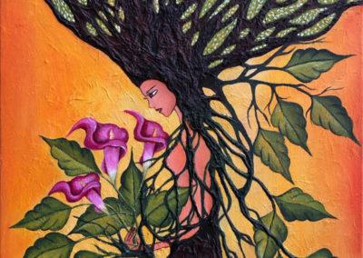 Illarisisa | flor de amanecer | Blume des Morgengrauens | 50 x 70 | Copyright URPI