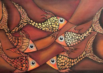 Marea roja | roter Schwarm | 100 x 50 | Copyright URPI